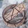 Läderarmband Stripe Natur till henne - L dam: ca 19 cm runt handleden