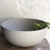 Stor hamrad skål naturmaterial grå