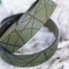 Läderarmband Stripe Mörkgrön till honom - L: ca21cm runt handleden