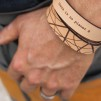 Läderarmband Planet B till honom - L: ca 21cm runt handleden