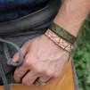 Läderarmband Stripe Natur till honom