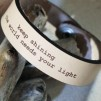 Läderarmband Keep shining - L: ca 19,0 cm runt handleden