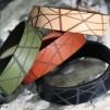 Läderarmband Stripe Brunt till honom