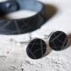 Manschettknappar Stripe svart