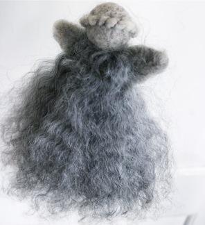 Ängel ull - Naturgrå