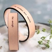 Par-armband Valfri text