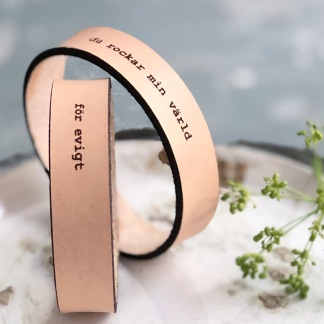 Par-armband Valfri text - Dam/dam