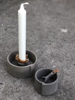 Ljusstake Raw concrete -
