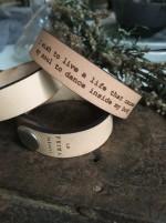 Läderarmband I wish to live.. Till henne
