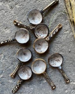 Kaffemått - Rustikt vit