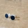 Örhängen återbrukat läder - Dark blue