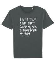 Eco t-shirt I wish to live..
