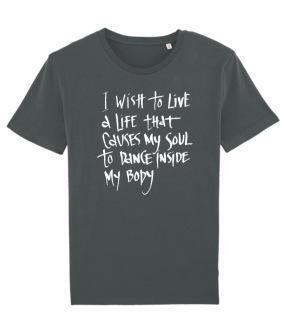 Eco t-shirt I wish to live.. - S