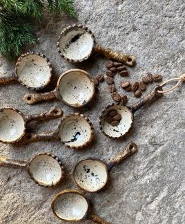 Kaffemått - Rustikt med stänk