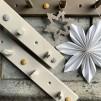 Hängare vintage beige - 4 knoppar detaljer betong