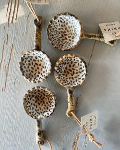 Kaffemått bladverk - Gråblå