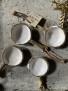Kaffemått rustik vitt - Slät kant