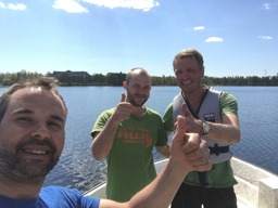 Växjösjön 5,02 m Andreas Hedrén Växjö Kommun, Jesper och Magnus på Klara Vatten