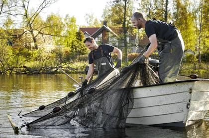 Reduktionsfiske med Magnus & Jesper på klaravatten.se Foto: Hans Runesson