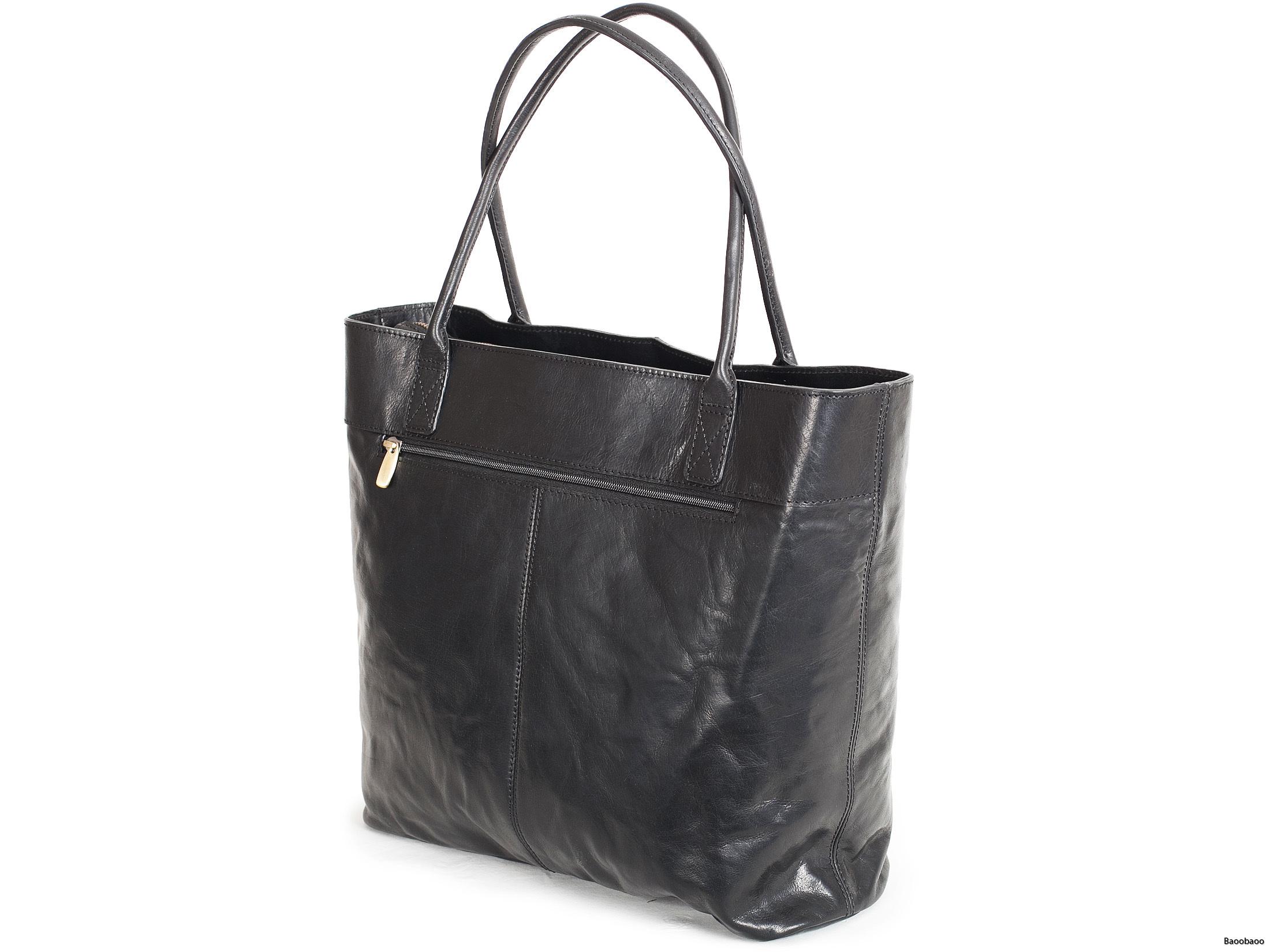 Shopper Black Back