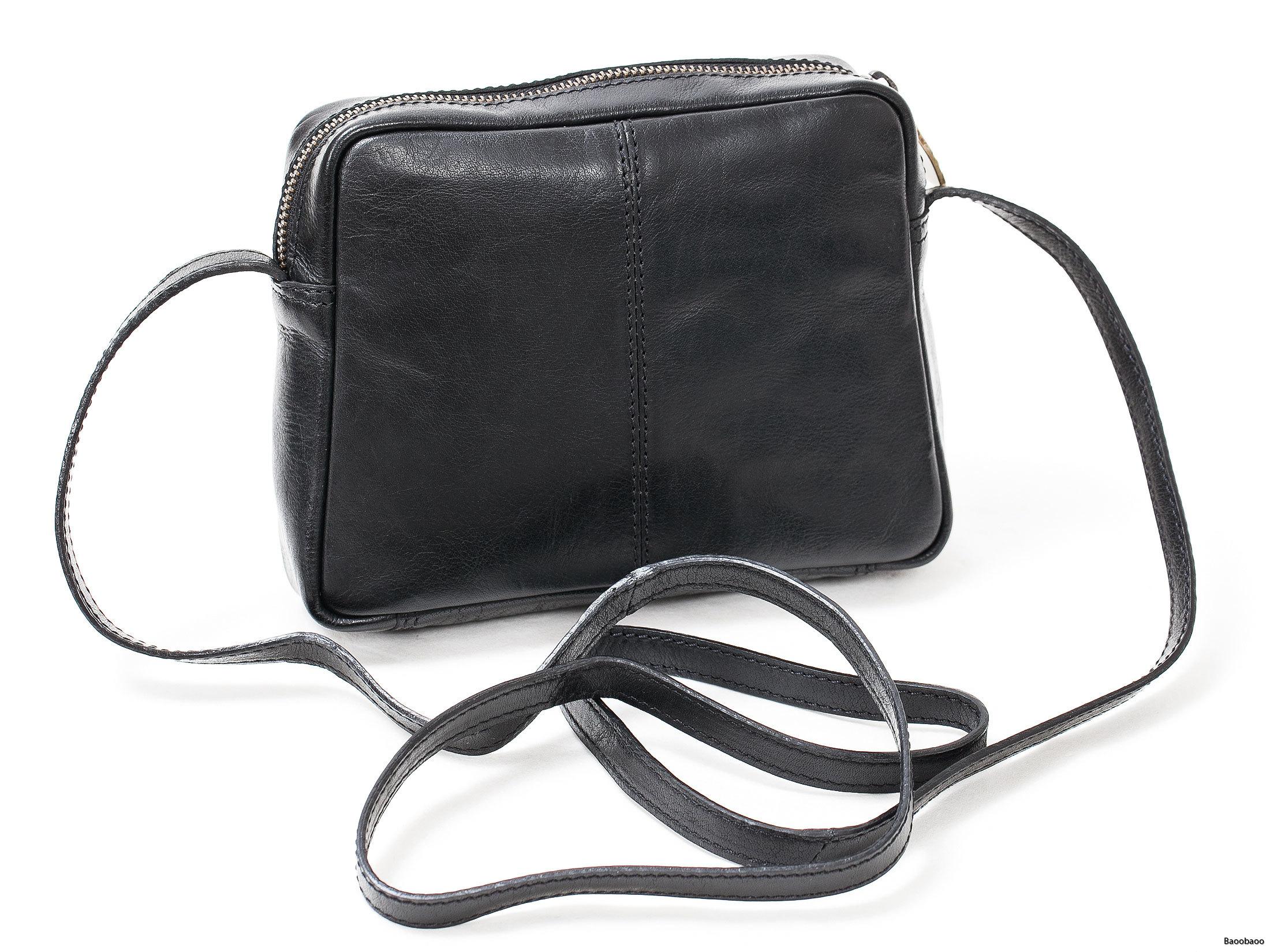 Shoulderbag Mini Black Back