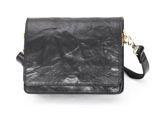 Baoobaoo Flap Handbag small. - Black