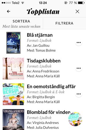 En oemotståndlig affär: FJÄRDE PLATS PÅ MEST LÄSTA senaste veckan på Storytel!