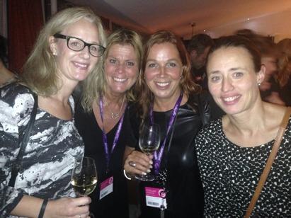 Min redaktör Johanna, jag själv, Christina (igen... haha) och Karolina Ek, också redaktör.
