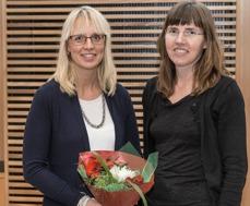 Två av stipendiaterna - Ingrid Petersson och Helena Rydell