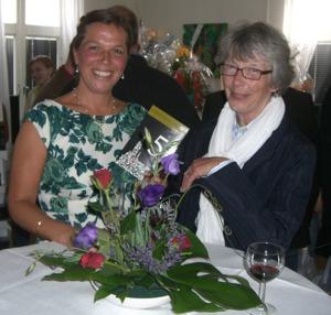 Tillsammans med Lena Pilborg - förläggare och ägare av Tre Böcker Förlag