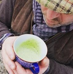 Läckert grön soppa på potatis och torkad ramslök. Nästan lika god som med färska blad.