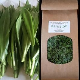 Nyplockade blad av Ramslök 150 gram + torkad Ramslök 40 gram (ekologisk)