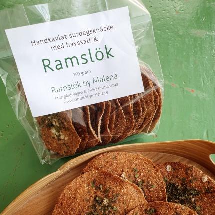 Handkavlat surdegsknäcke med Ramslök, 150 gram -