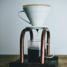 Droppställning för kaffe -