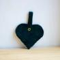 Julgranshjärta (flera färger) - Grön mocka