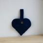 Julgranshjärta (flera färger) - Blå mocka