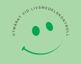 Skogsviolen har erhållit Smiley dekalen vilket innebär att livsmedelsverket bedömt oss som väl godkänt kök vid miljö - byggnadskontorets senaste livsmedelskontroll.