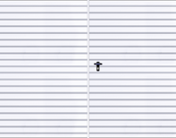 Tvåbladig slagport med ifyllnad av T - 10-plåt, vertikal mönsterläggning, port med symmetriska portblad
