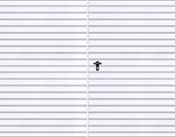 Tvåbladig slagport med ifyllnad av T - 10-plåt, horisontell mönsterläggning