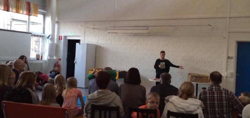 Författarbesök på Idrottskolan i Markaryd med Ylva Carlsdotter Wallin