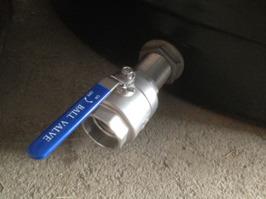 Monterad ventil på rörkoppling.