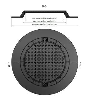 Brunnslock 1050 Composite