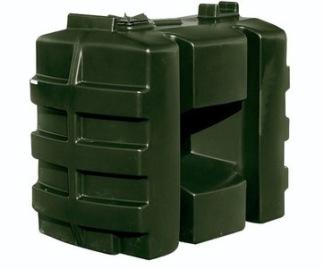 Polyetentank 600 lit. grön