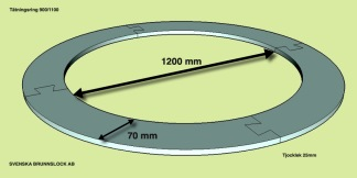 Tätningsring 1200-1340 mm. -
