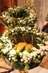 Underbar blomsterkrans som är kronformad, florist SteinAre Hansen