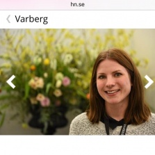Florist Marinette Varberg i Hallands Nyheter