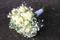 Tärnbukett/brudbukett i vita blommor