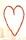 Höstigt hjärta med bär till bordsdukning vid höstbröllop