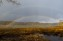 13 april. Rengbåge över Flanviken efter en kraftig hagelskur