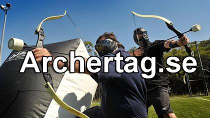 Spela Archertag/Pilbågskrig hos oss - som paintball fast med pilbåge - hur kul so helst - klicka på bilden för mer info och bokning!